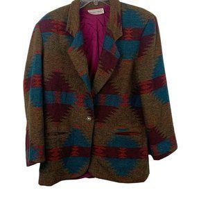 Westbound women's tribal southwest print blazer 14